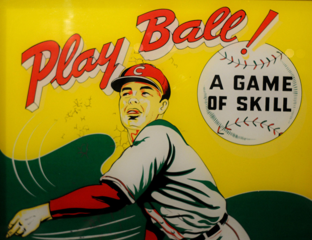 ". A detail of an arcade game is included in the ""Baseball!\"" exhibit. The Exhibition opens April 4, 2014 at the Ronald Reagan Presidential Library and Museum.  Running through September 4, 2014, Baseball is a 12,000 square foot exhibition featuring over 700 artifacts, including some of the rarest, historic and iconic baseball memorabilia.  (Photo by Dean Musgrove/Staff Photographer)"