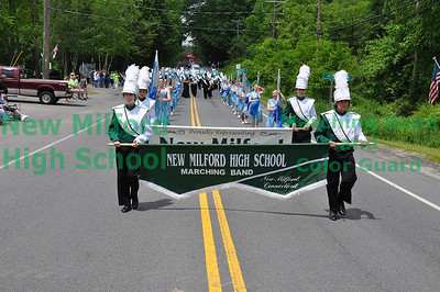 NMHS Band and Guard at Sherman Parade, May 29, 2011