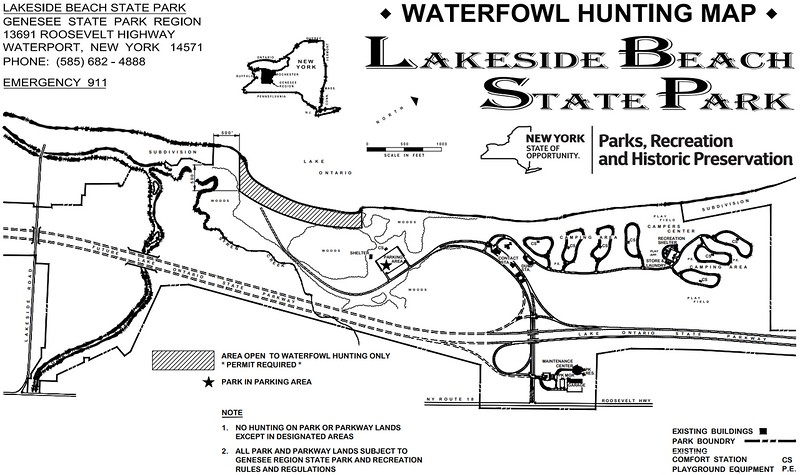 Lakeside Beach State Park (Waterfowl Hunting Map)