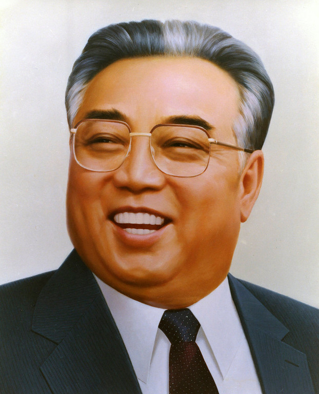 . In this 1995 photo from North Korea\'s official Korean Central News Agency, distributed by Korea News Service, portrait of leader Kim Il Sung produced after 100 days from his death. (Korean Central News Agency/Korea News Service via AP Images)