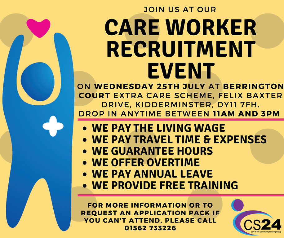 Care worker recruitment event 25th July