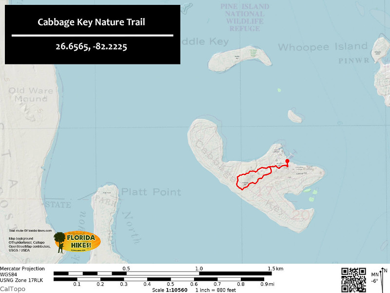 Cabbage Key Nature Trail Map