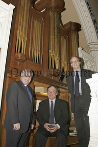 Rev Norman Hutton, Gerry Doherty  (Organist) and Anthony Russell (Spaeker)