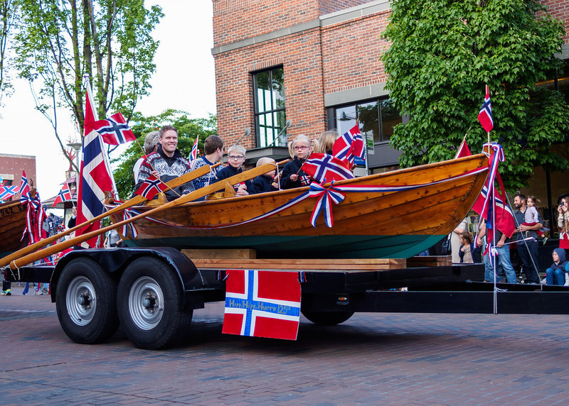 Syttende mai - Norwegian Constitution Day parade in Ballard, Seattle