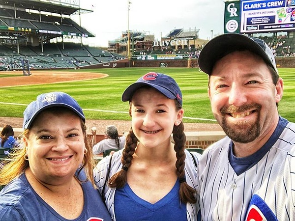 Perfect place with my favorite people on a (finally!) 80-plus-degree night in May! #GoCubsGo #EveryoneIn