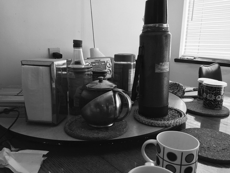 Kitchen table and breakfast