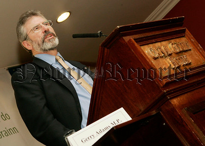 President of Sinn Fein Gerry Adams MP pictured at the Canal Court Hotel Newry. 06W43N38