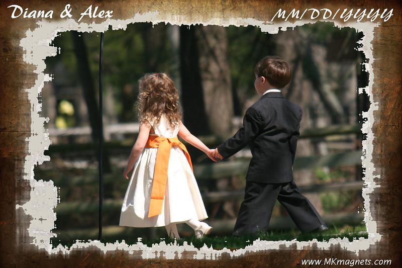 wedding magnet frame -  brown antique.jpg