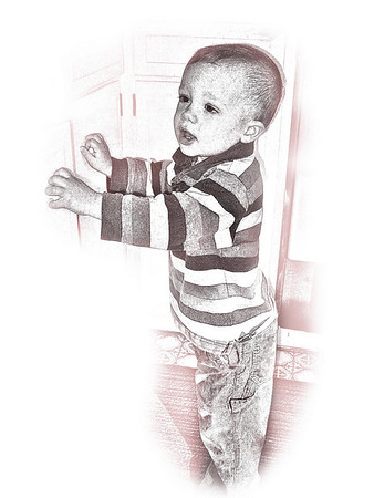 Photos of my grand children turned into artwork 2008 - 2009