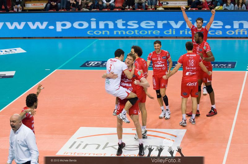 Piacenza esulta per la vittoria