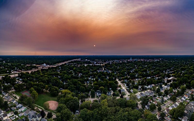 West Coast Fires Smoke Out Southeast Michigan
