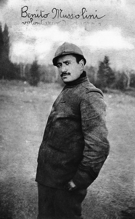 . Benito Mussolini pictured as a soldier in World War I in 1914. He rose from the ranks of a corporal to the leader of Fascist Italy. (AP Photo)