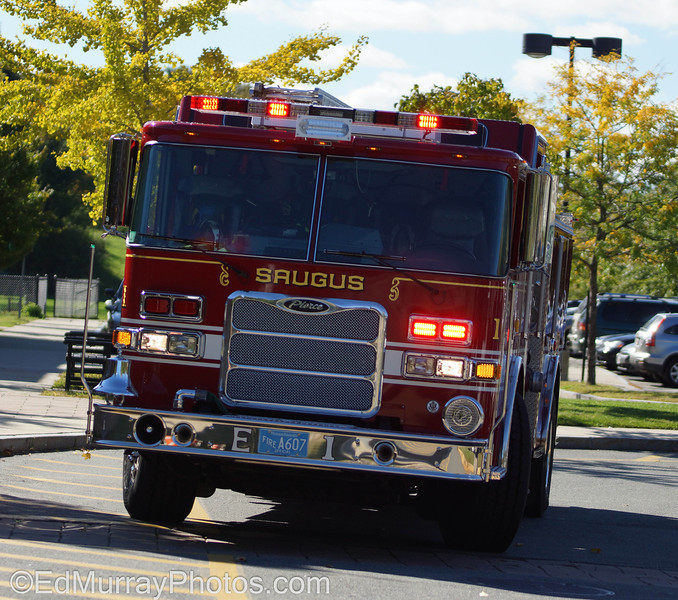 Engine 1: Good morning all. This is Saugus' newest fire engine...at an emergency at my daughter's school. (everything turned out ok btw) - I've been busy with a couple of shoots and battling an illness so I haven't been around lately. Looks like I have some catching up to do!  10/16/2012