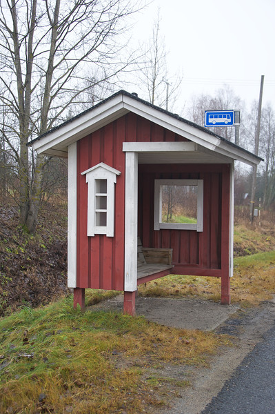 Cozy bus stop, nice in Winter