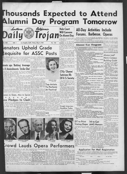 Daily Trojan, Vol. 42, No. 123, May 04, 1951
