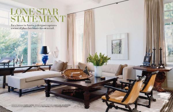 "Veranda mag. Issue about Darryl Carter interior designer, pictured our signature ""dance floor"" coffee table"