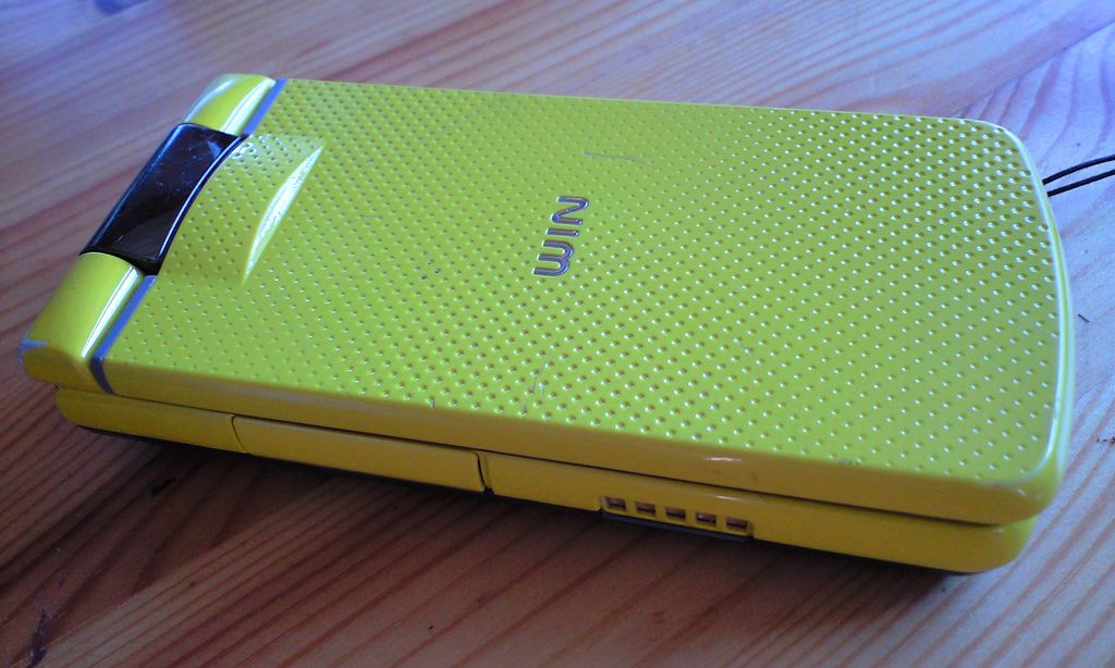 "CASIO cellphone ""W61CA - Esprit Yellow"""