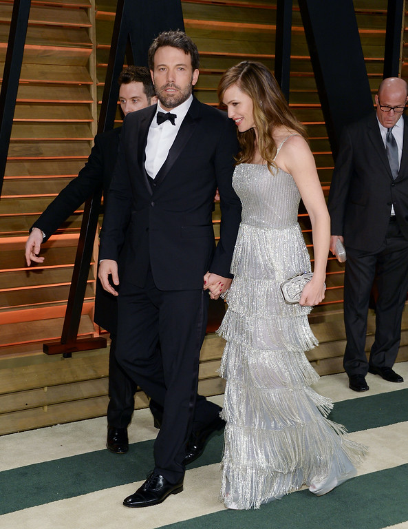 . Ben Affleck and wife Jennifer Garner attends the 2014 Vanity Fair Oscar Party on Sunday, March 2, 2014, in West Hollywood, Calif. (Photo by Evan Agostini/Invision/AP)