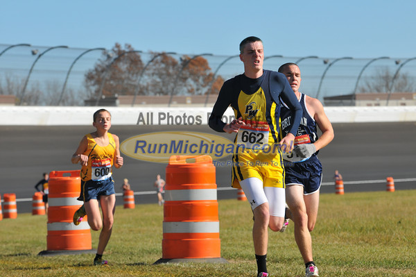 Boy's D3 at 2.8 Mile Mark Gallery 2 - 2011 MHSAA LP XC Finals