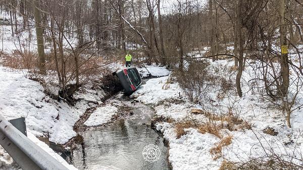 Vehicle into Creek - Modena Fire Company
