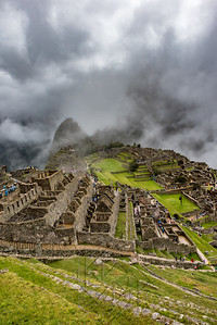 Upper complex of building in Machu Picchu