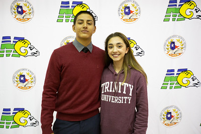 Montwood High School Signing Nadia Kern and Robert Loya
