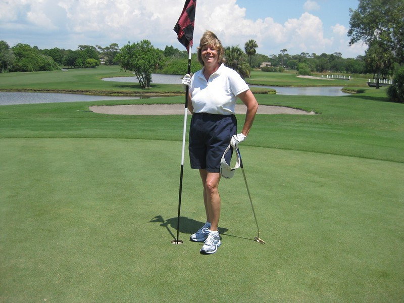 Sally Walker Playing Golf
