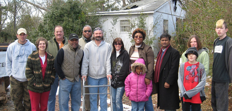 10 02-13 Kick off: Friends and associates approaches the Fuller Center with a request - a new home for the DeLee family. Monta Brown donated a house which will be renovated. The structure was damaged by fire a few years ago but the exterior concrete load-bearing walls are still intact. A small addition is planned as well as a ramp and other features to accommodate ADA requirements. Shane Persaud