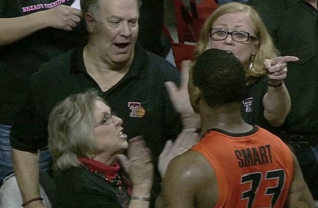 ". <p>9. JEFF ORR <p>Texas Tech superfan shows it takes �a piece of crap� to know one. (unranked) <p><b><a href=\'http://thinkprogress.org/sports/2014/02/09/3269551/marcus-smart/\' target=""_blank\""> HUH?</a></b> <p>   (Photo from YouTube)"