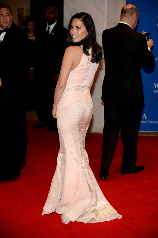 . Olivia Munn attends the 100th Annual White House Correspondents\' Association Dinner at the Washington Hilton on May 3, 2014 in Washington, DC.  (Photo by Dimitrios Kambouris/Getty Images)
