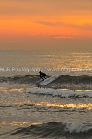 Surfing, Gilgo Beach, NY, (12-30-07)