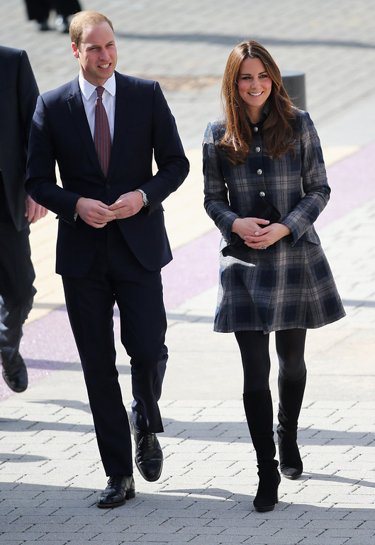 . Prince William, Earl of Strahearn and Catherine, Countess of Strathearn visit the Emirates Arena on April 4, 2013 in Glasgow, Scotland. The Emirates Arena will play host to several events at the 2014 Glasgow Commonwealth Games.  (Photo by Chris Jackson/Getty Images)