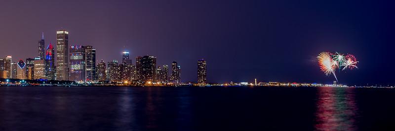 Chicago GO USA Skyline Fireworks