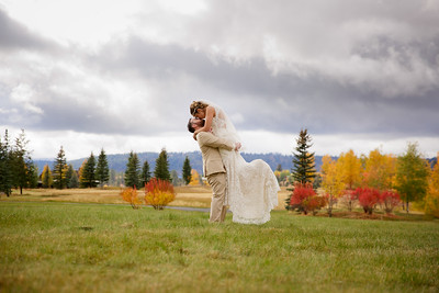 Ben and Ashly Wedding Ceremony and Reception at River Ranch in McCall, Idaho