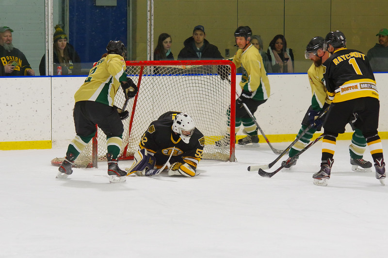 Aaron Girgenti (2, left) scores a goal during the first period.