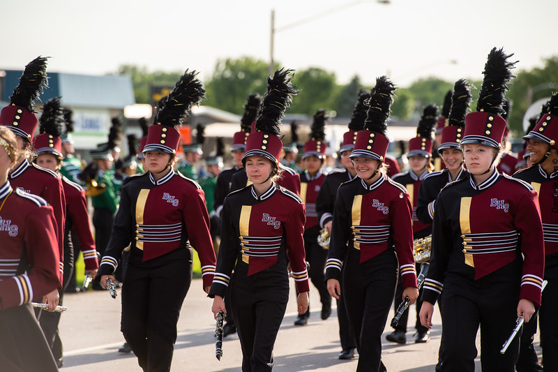 Benson Braves Marching Band at Pioneerland Band Festival