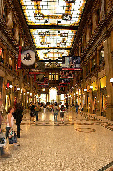 A small shopping mall in Rome.