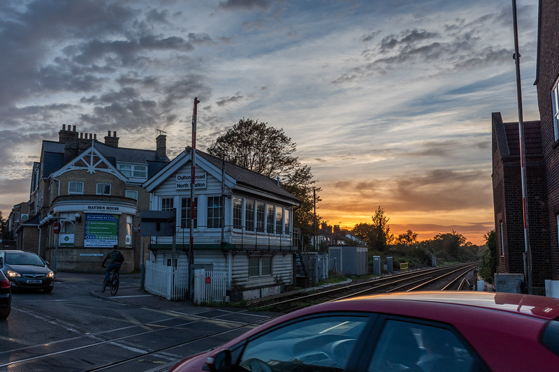 Oulton Broad North Signal Box - Sunset