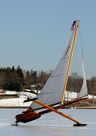 Racing Iceboats from Henry Bossett