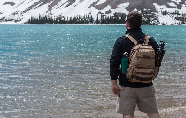 The Vanguard Havana backpack at Bow Lake.