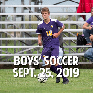 Lutheran Boys Soccer, Sept. 25, 2019