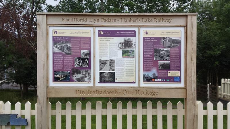 Llanberis Lake Railway info Sign  22/08/15.