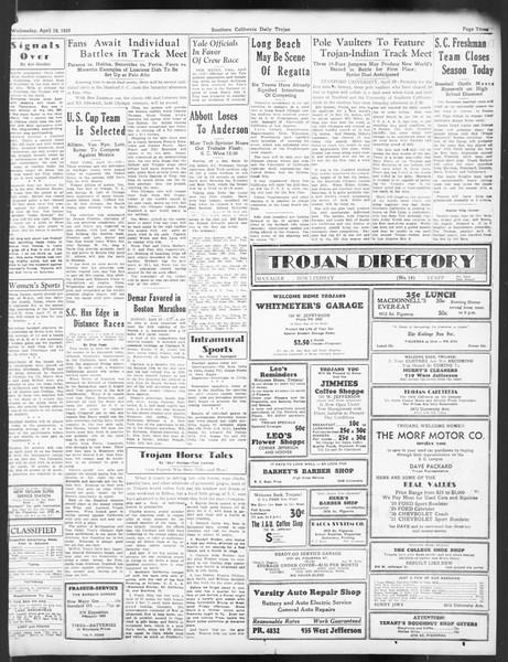 Daily Trojan, Vol. 24, No. 126, April 19, 1933