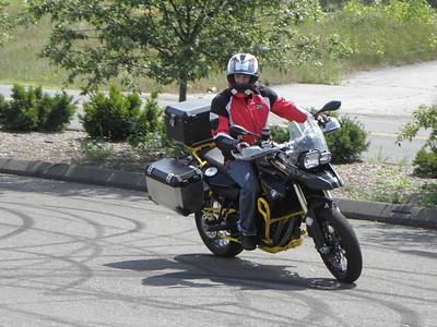 F800GS stunt