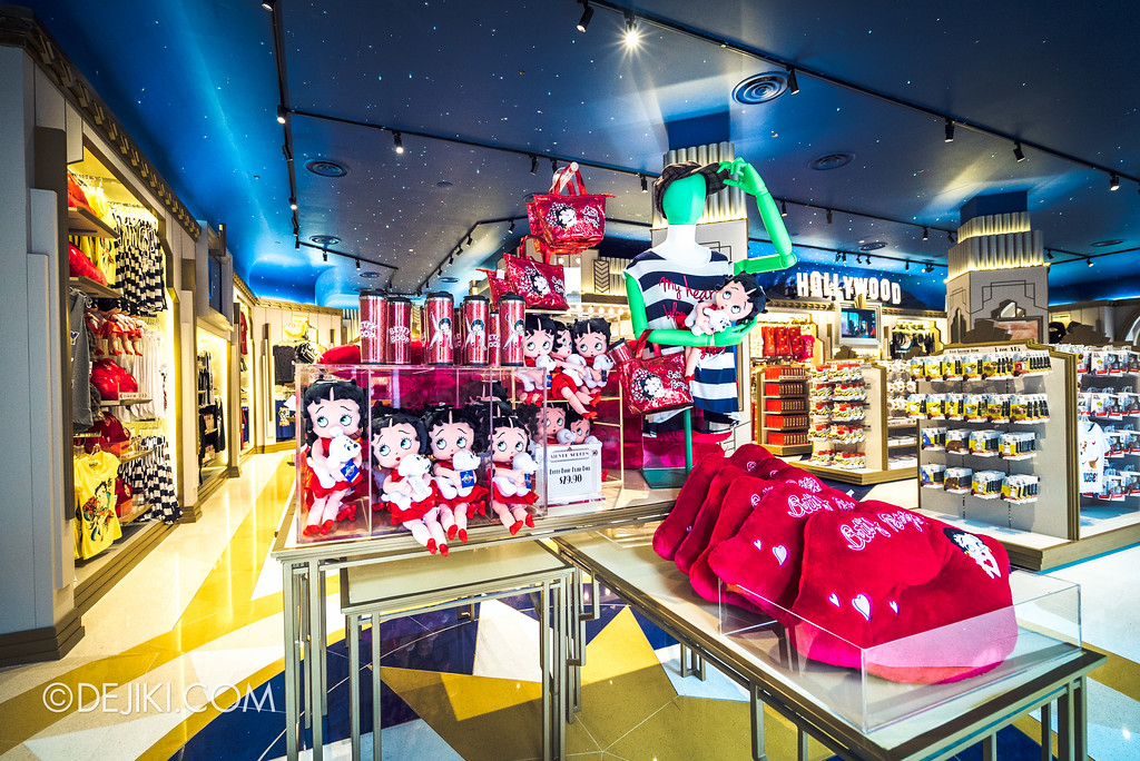 Universal Studios Singapore - Silver Screen Store Betty Boop merchandise display