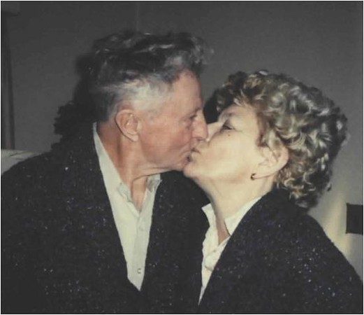 Dad and Mom Kiss