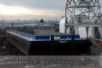 Final construction stage, barge Leanne Joan at Gunderson Marine