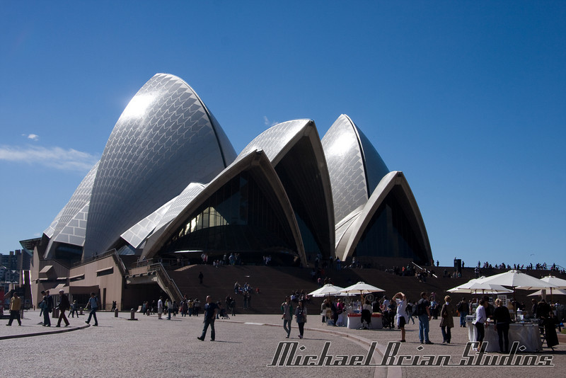 Our first shot of the Sydney opera house.