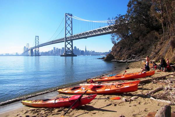 SF Bay Kayak to Yerba Buena Island: Jan 20, 2014