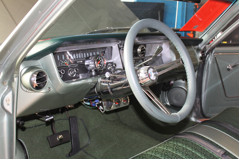 Instrument cluster after modification - driver's side